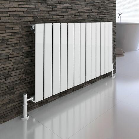 Atlanta White 600 x 984 Horizontal Flat Panel Designer Radiator Central Heating