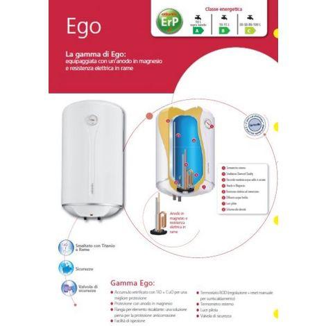 ATLANTIC chauffe-eau électrique de la chaudière EGO 80 litres prise, soupape de sécurité, d'un thermomètre et chauffe-eau de l'indicateur.