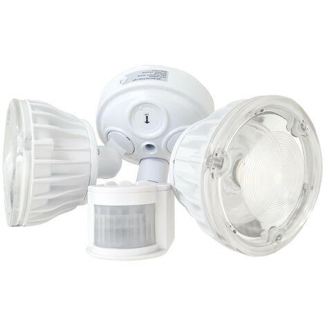 """main image of """"Atlantic'S - Double Projecteur LED à détection de mouvement - 2x10W - Blanc"""""""