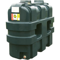 Atlantis 1200 Litre Slimline Single Skin Plastic Oil Tank SIP.R1200