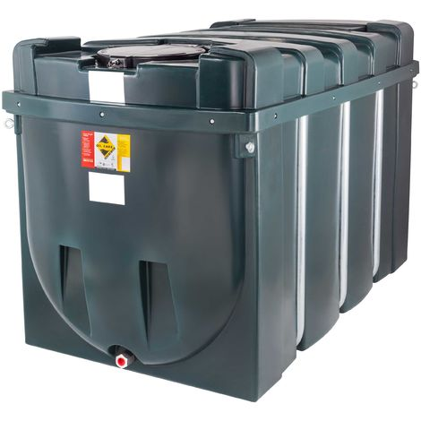 Atlantis 2500 Litre Horizontal Bunded Plastic Oil Tank CE Approved OFTEC BUP.H2500