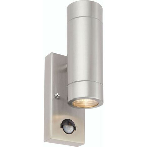 Atlantis PIR outdoor wall light Marine grade stainless steel and glass