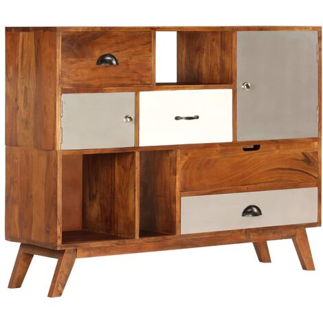 """main image of """"Atmore Solid Acacia Wood Sideboard by Bloomsbury Market - Multicolour"""""""