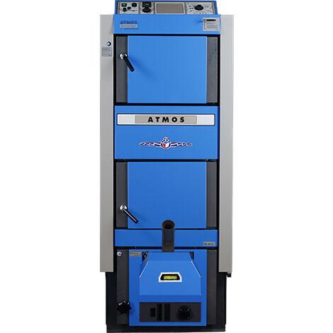 ATMOS Kombikessel DC25-30GSP für Holz und Pellets Heizung DC25GSP+A25 Brenner