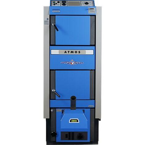 ATMOS Kombikessel DC25-30GSP für Holz und Pellets Heizung DC30GSP+A25 Brenner