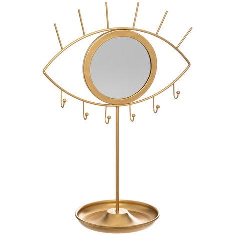 Atmosphera - 2 en 1 Porte bijoux et Miroir Oeil H 36 cm Bohème