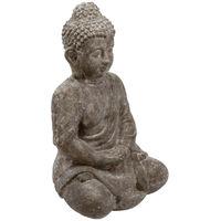 Atmosphera - Bouddha assis en ciment H 46 cm