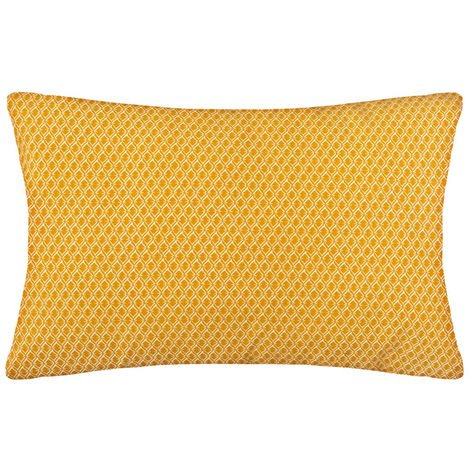 Atmosphera - Coussin motif otto ocre 30x50