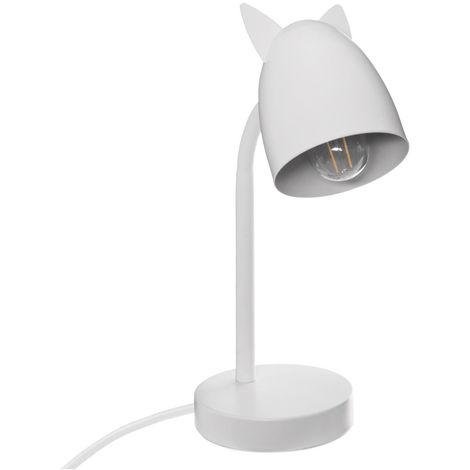 Métal De Chat À Oreilles Poser Gris Lampe En Atmosphera xBWEdoQrCe