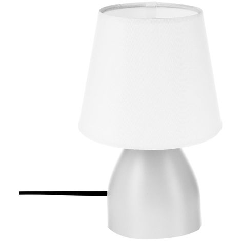 Atmosphera - Lampe de chevet blanc H19.5