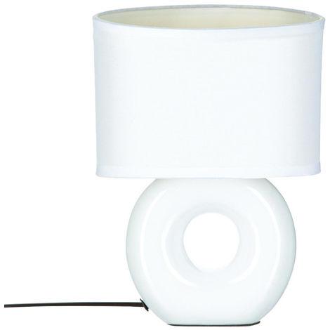 Atmosphera - Lampe en céramique à pied rond H26