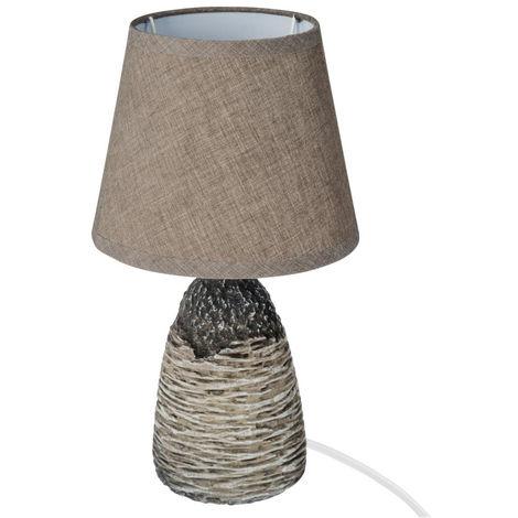 Atmosphera - Lampe en céramique taupe H30