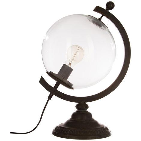 Atmosphera - Lampe globe en métal H44