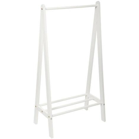 Atmosphera - Mini Penderie Portant en Bois Blanc pour chambre d'enfant H 115 cm