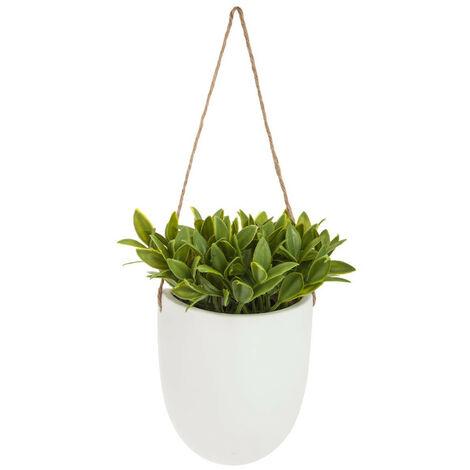 Atmosphera - Plante artificielle à suspendre Pot en céramique H 20 cm