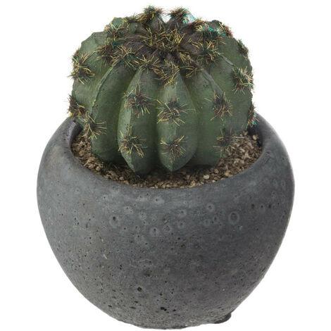 Atmosphera - Plante artificielle Cactus en pot D 6 cm