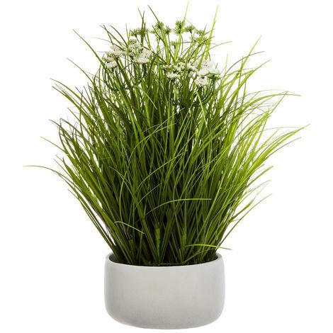 Atmosphera - Plante artificielle Herbes Folles dans un pot H 50 cm