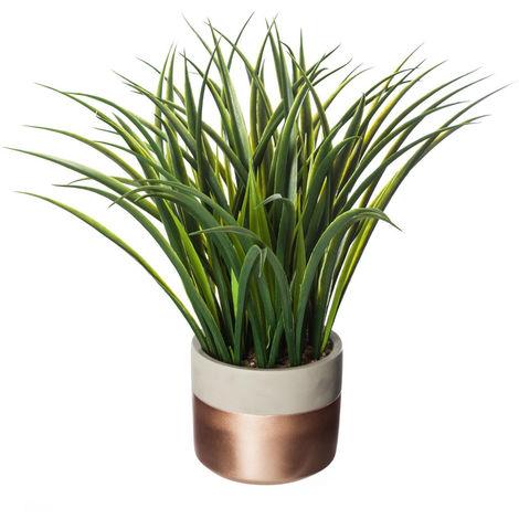 Atmosphera - Plante verte artificielle en pot H 40 cm