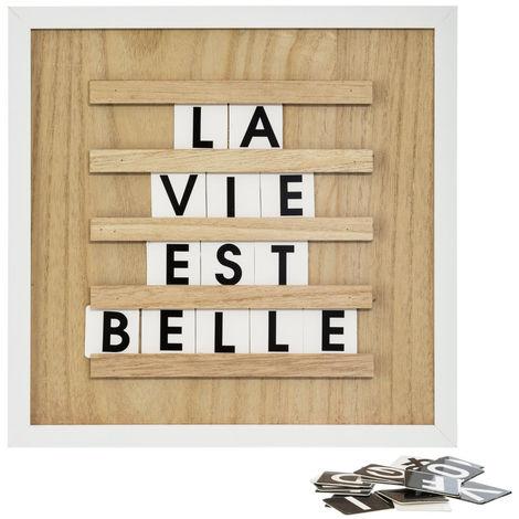 Atmosphera Tableau En Bois Avec Lettres Format 30x30 Cm Collect Moments 161315 14175 24870