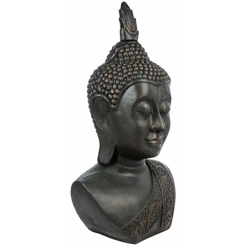 Tête de Bouddha Yazu Noir - Atmosphera