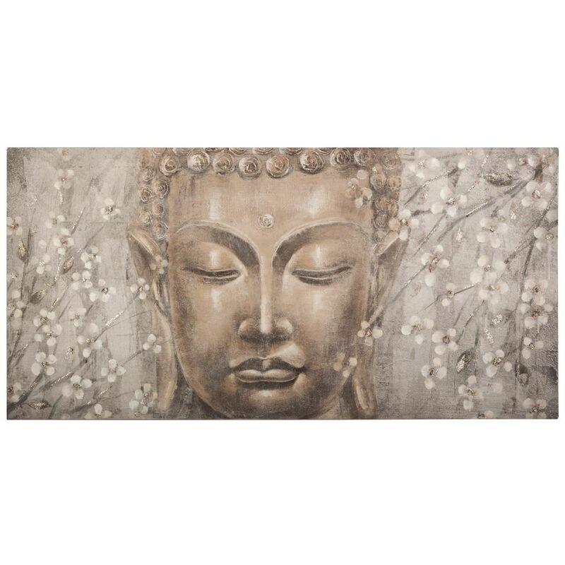 Toile Bouddha 58X118 - Fleurs de cerisier