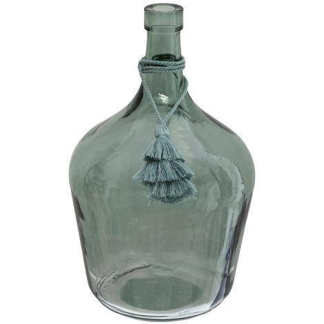 """main image of """"Atmosphera - Vase Dame Jeanne avec Pompon H 25 cm"""""""