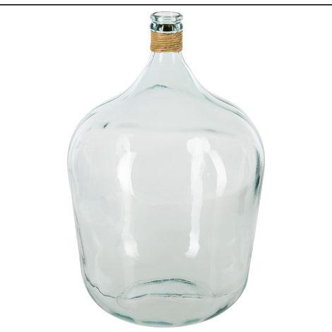 """main image of """"Atmosphera - Vase Dame jeanne avec rafia D40xH56 été indien"""""""