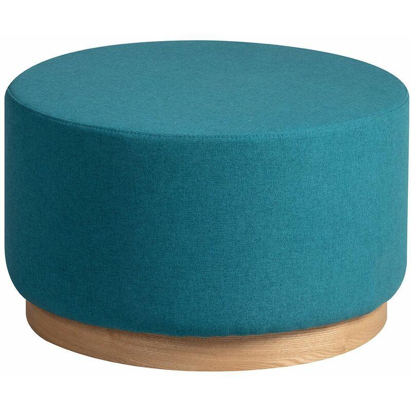 ATNA - Bout de Canapé Placage Frêne et Tissu Bleu Canard - Bleu - ALTOBUY