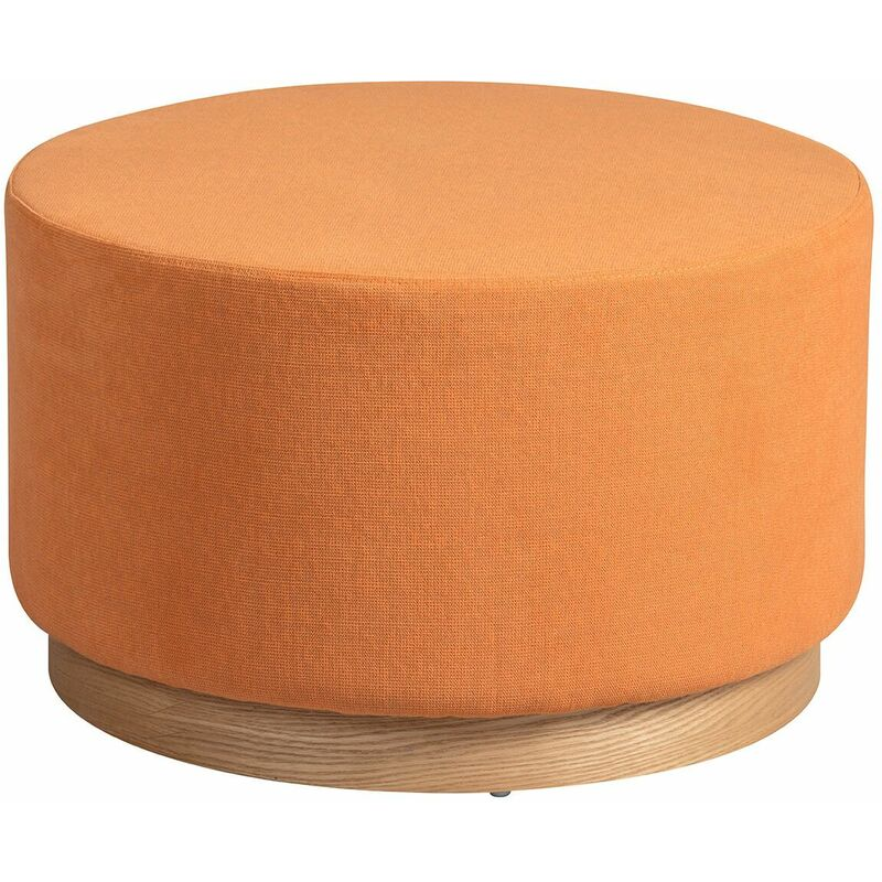 ATNA - Bout de Canapé Placage Frêne et Tissu Orange - Orange - ALTOBUY