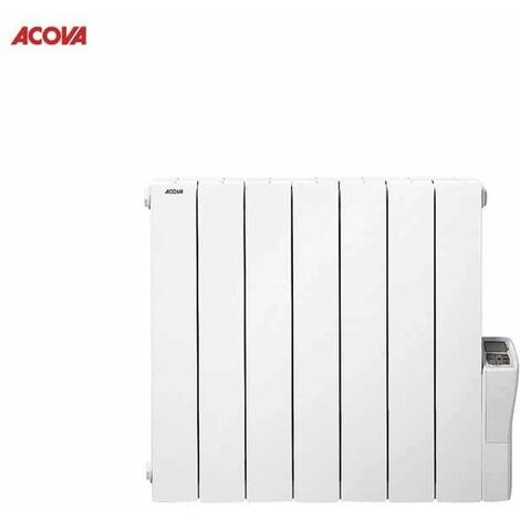 Atolón Acova 1250W LCD radiador eléctrico - Blanc