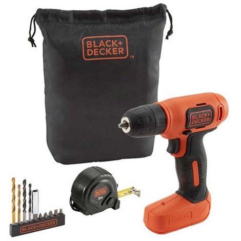 Atornillador Black&Decker 7,2V + 11 Accesorios con bolsa BDCD8GPA