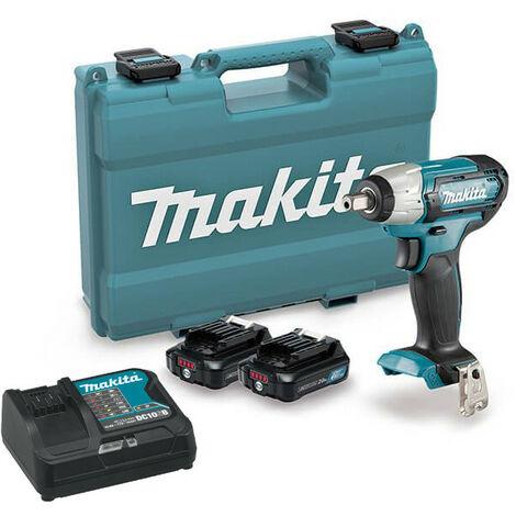 Atornillador de impacto 12Vmax CXT 1/2 con 2 baterías 2.0Ah y maletín Makita TW141DSAE