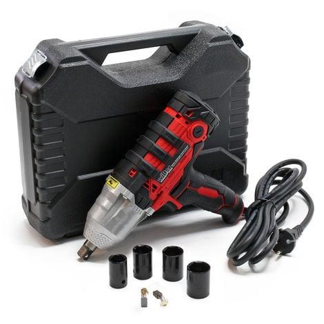 """Atornillador de impacto 450W, accionamiento 12,7mm (½""""), con 4 casquillos para llaves de impacto"""