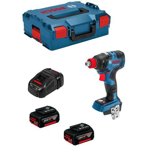 Atornillador de Impacto BOSCH GDX 18V-200 C (2 x 5,0Ah + GAL1880CV + L-Boxx 136)