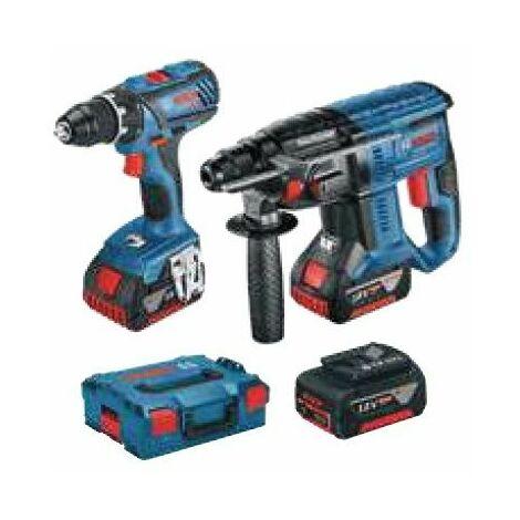 Atornillador GSR 18V-28 Professional+Martillo GBH 18V-20 BOSCH 0615990K3Z