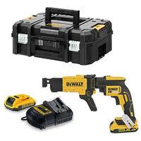 Atornillador para pladur Dewalt 18v 2 baterías 2.0 Ah con maletin + Cargador rápido de tornillos DCF620D2K