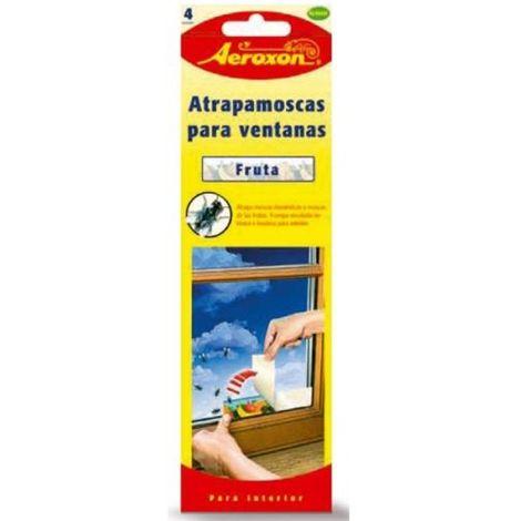 Atrapamoscas para ventanas con diseño frutal AEROXON - Pack 4 tiras