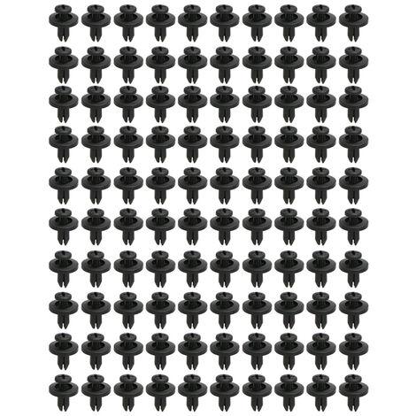 Attache En Nylon Rivet Clips Push Type Retenue Rivet Retenue Garniture 6Mm Trou Taille 100 Pcs