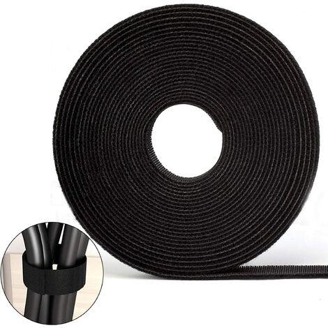 Attaches de câble Velcro Bande Velcro 10M Bande Velcro double face Velcro auto-adhésif peut être coupé