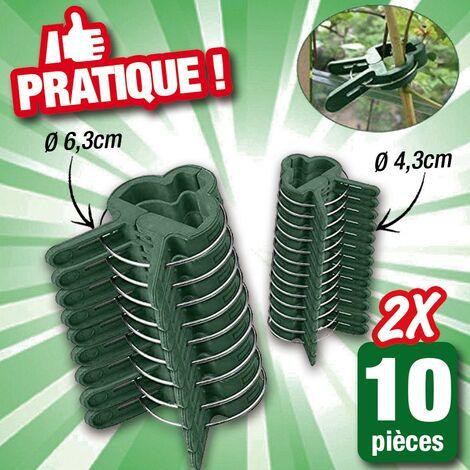 attaches plantes lot de 20 Pièces - 2 tailles