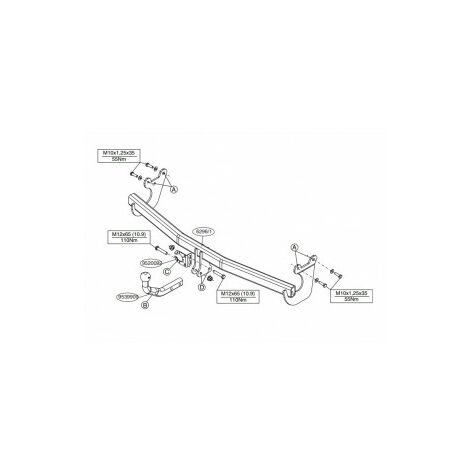 Attelage Hyundai i10 pour porte-vélos (11/13-08/19) Col de cygne + faisceau spécifique 13 broches