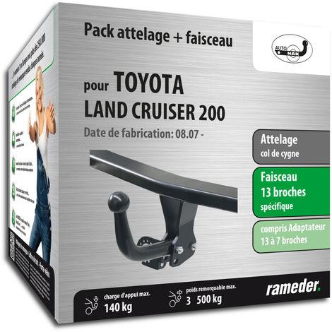Attelage pour Toyota LAND CRUISER 200 - 01/08-12/99 - col de cygne - AUTO-HAK - Faiseau spécifique 13 broches