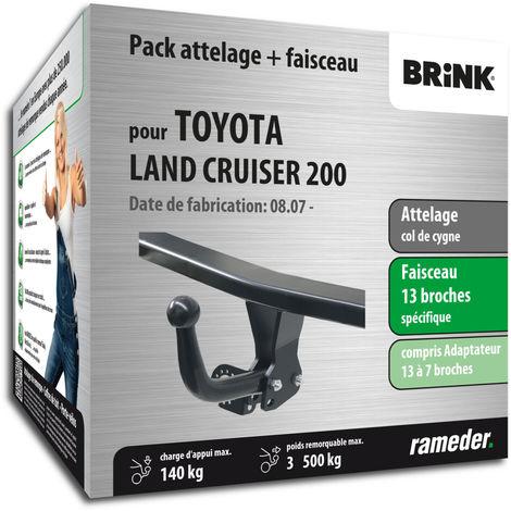Attelage pour Toyota LAND CRUISER 200 - 09/10-12/99 - col de cygne - Brink - Faiseau spécifique 13 broches