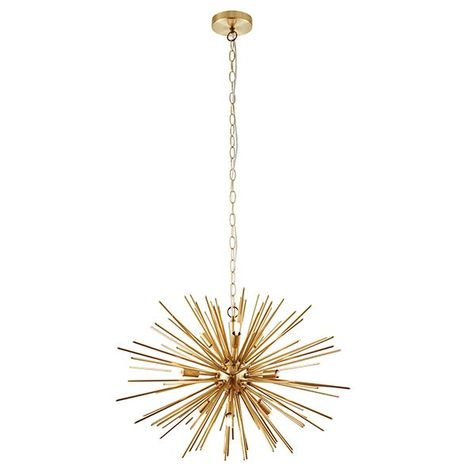 Attractive Style Orta 9Lt Pendant Light Fitting 28W - Brushed Brass Finish