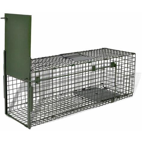 Attrape à Animaux avec 1 Porte Piège d'Animaux Cage Capture d'Animaux