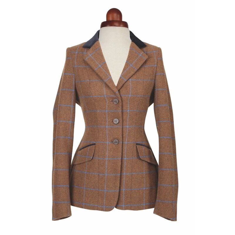 Image of Aubrion Childrens/Kids Saratoga Show Jumping Jacket (28) (Brown)