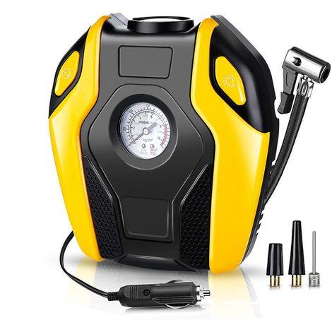 Audew 120V 150W 150PSI Compresseur d air LED Multifonctionnel Gonfleur de Pneus Pompe