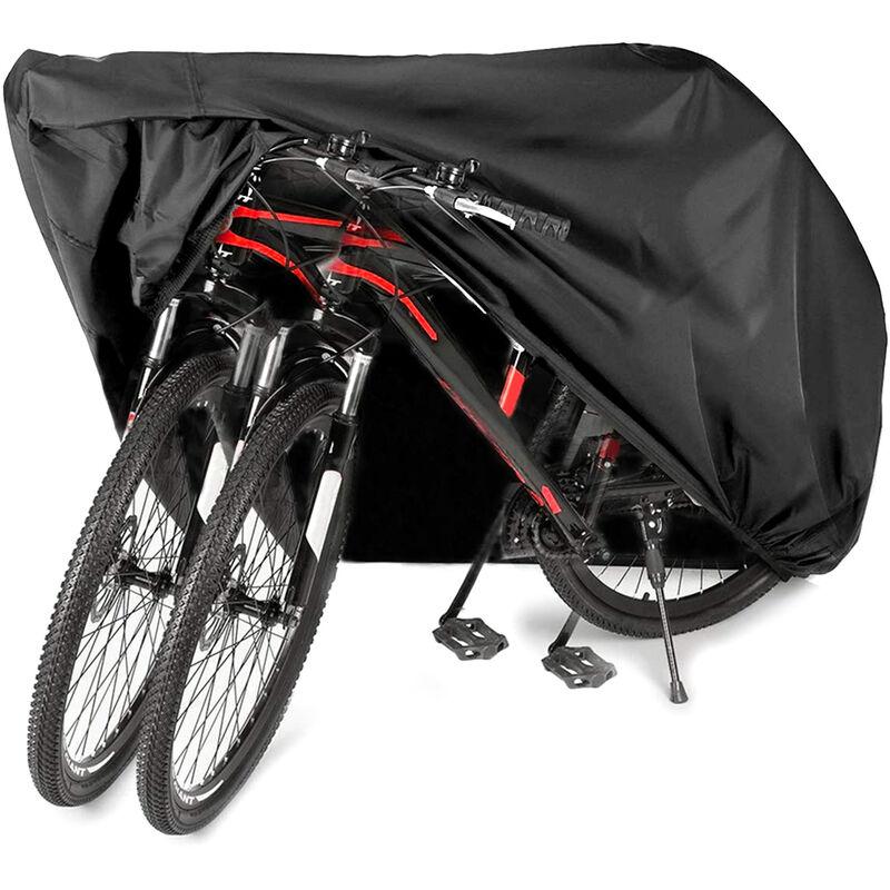 AUDEW 200*105*110cm 210D Bache Housse de Vélo Housse de Moto Housse de Protection (2-3 Vélos)