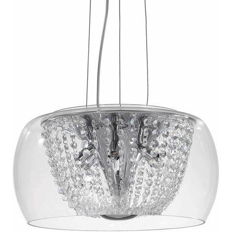 AUDI-61 chrome crystal pendant light 6 lights