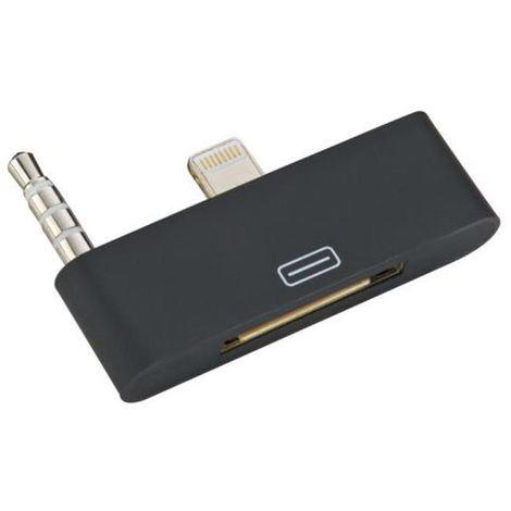 Audio Adapter 8pin to 30pin Lightning Plug für iPhone (schwarz)